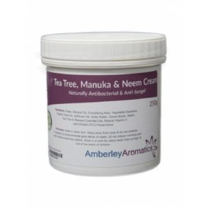 amberley aromatics, tea tree, manuka and neem cream, skin, healing, wounds
