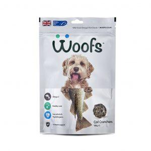 dogs, cod, healthy coat, dental, tartar, plaque, teeth, gums, hypoallergenic, immune system, joints, omega-3, treats, wild ocean fish, Woofs