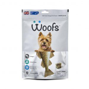 cod, dental, dogs, gums, healthy coat, hypoallergenic, immune system, joints, omega-3, plaque, tartar, teeth, treats, wild ocean fish, Woofs