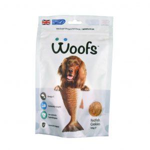 redfish, dogs, healthy coat, hypoallergenic, immune system, joints, omega-3, treats, wild ocean fish, Woofs, golden paste, turmeric